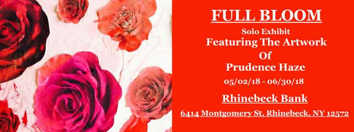 Rhinebeck branch - Prudence Haze art exhibit promo